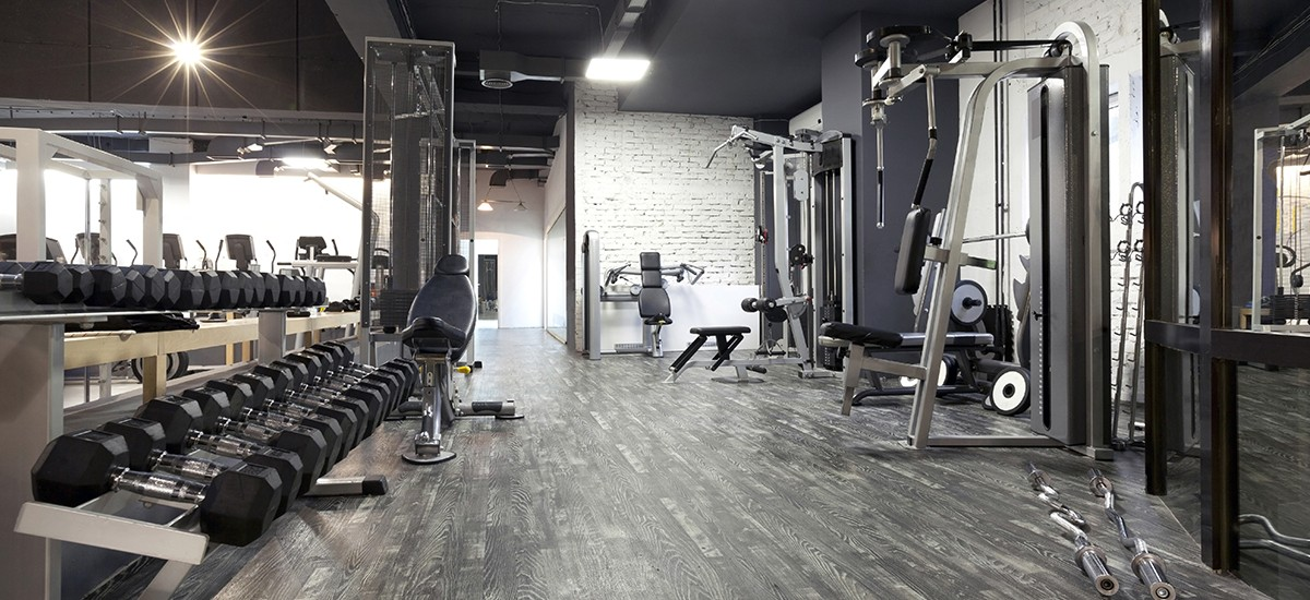 Inside the Fitness Room at office with equipment