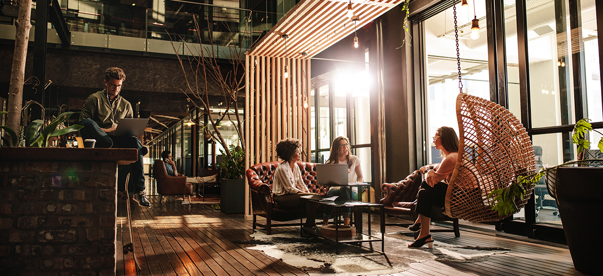 Coworking is blending with hospitality in many hotels