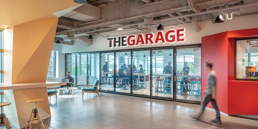 The Garage at Microsoft's Cambridge facility